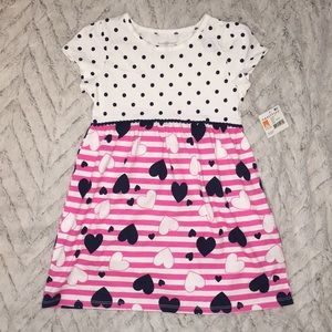 Little girls sz 4t NWT adorable heart 💕 dress